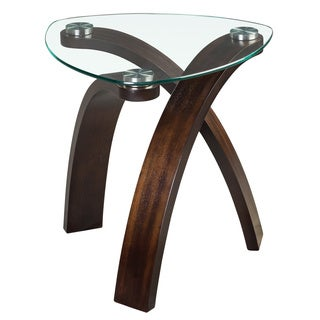 'Allure' Modern Glass-top Arch Legged Table