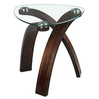 Oliver & James Ascott Modern Glass-top Arch Legged Sofa Table