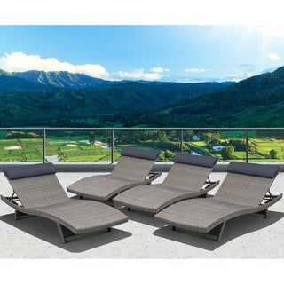 Atlantic Mykonos 4 Piece Grey Deluxe Loungers