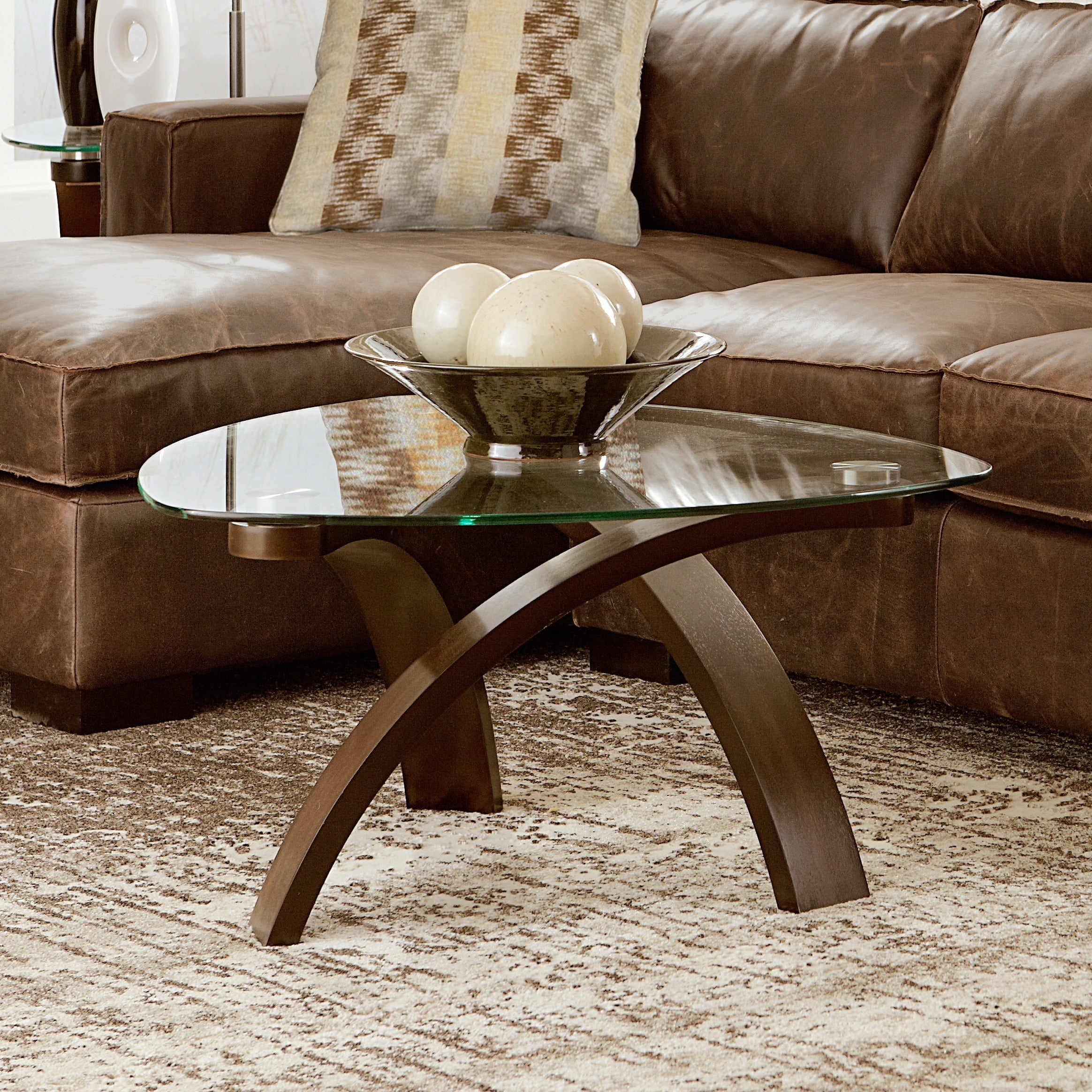 Magnussen Home Allure' Modern Arch Legged Cocktail Table,...