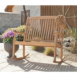 Ashmoor Teak Outdoor Double Rocker