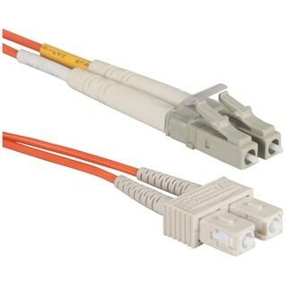 QVS 3-Meter LC to SC Multimode Fiber Duplex Patch Cord