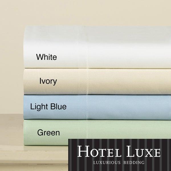 Hotel Luxe 600 Thread Count Cotton Sateen Luxury Sheet Set
