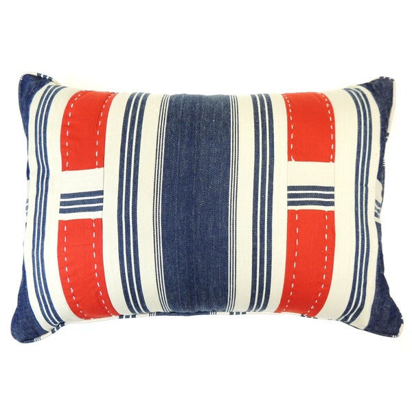 Canon Denim Boudoir Stripe Decorative Throw Pillow. Opens flyout.