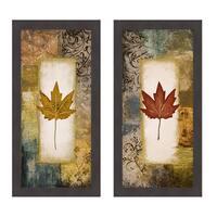 Single Leaf I and III Framed Print