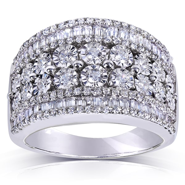 Annello by Kobelli Sterling Silver 1 1/4ct TDW Diamond Ring (H-I, I1-I2)