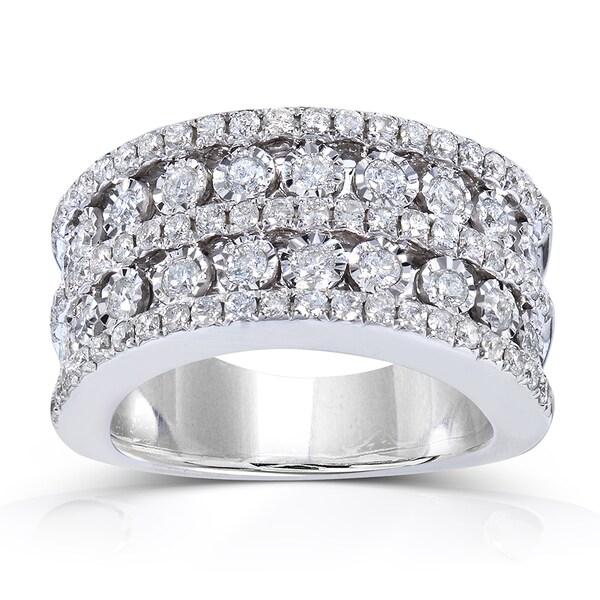 Annello by Kobelli 10k White Gold 1 1/2 ct TDW Ladies Diamond Band (H-I, I1-I2)