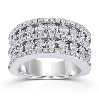 Annello by Kobelli 10k White Gold 1 1/2 ct TDW Ladies Diamond Band (H-I, I1-I2)