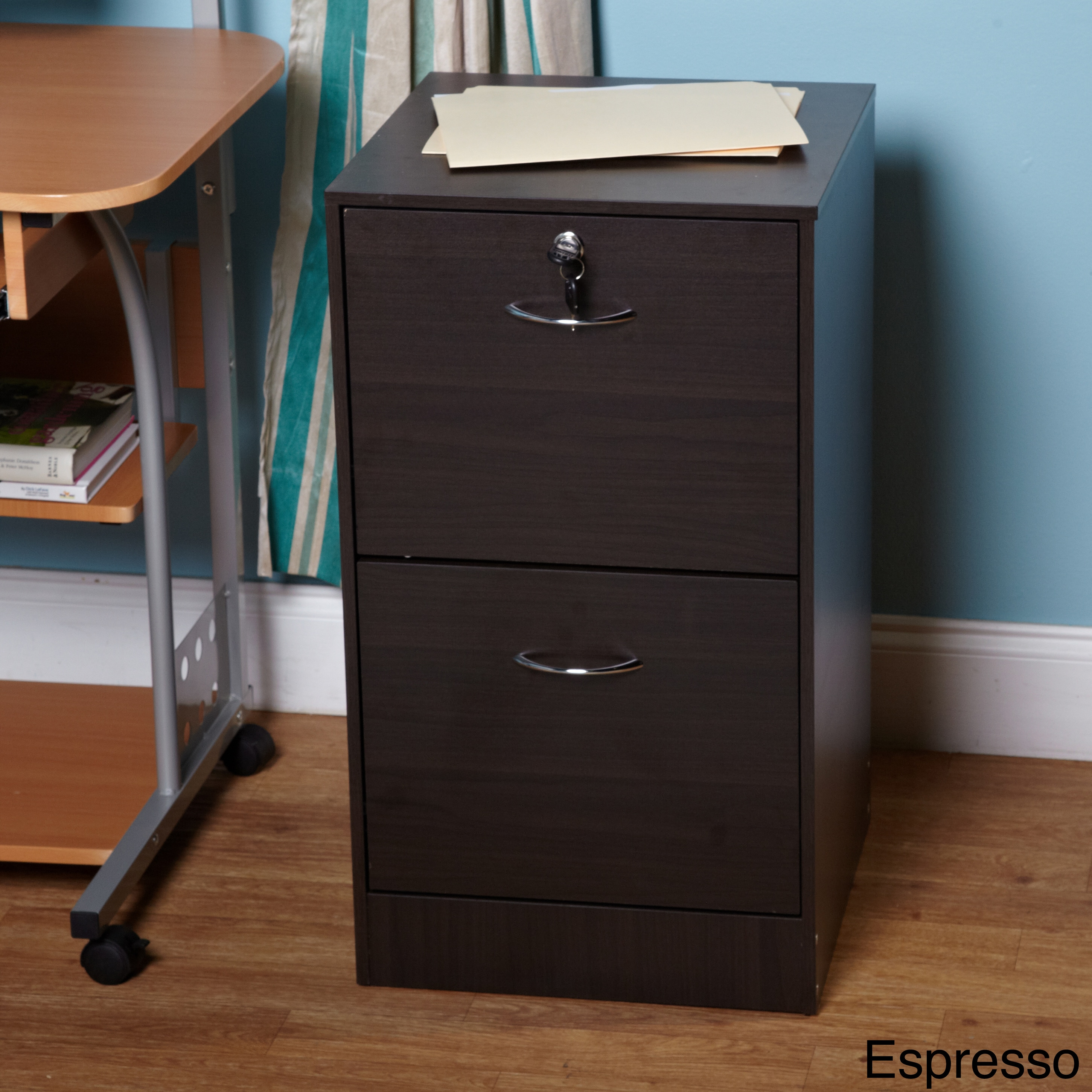 Simple Living Wilson 2-drawer Filing Cabinet (Espresso 2 ...