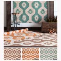 Artist's Loom Handmade Flatweave Contemporary Reversible Wool Rug - 3' x 5'
