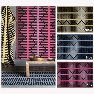 Artist's Loom Handmade Flatweave Contemporary Reversible Rug (7' x 10')
