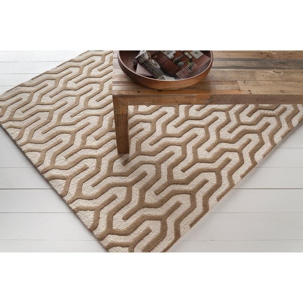 Artist's Loom Hand-tufted Contemporary Geometric Wool Rug (7'x10')