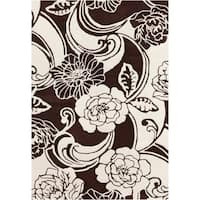 Artist's Loom Hand-tufted Transitional Floral Wool Rug - 5' x 7'