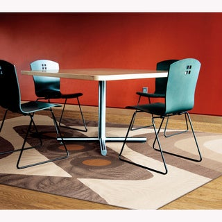 Artist's Loom Indoor Contemporary Geometric Rug (5'3 x 7'2)