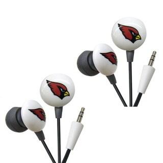 iHip NFL Arizona Cardinals Mini Ear Buds (Pack of 2)