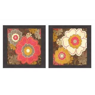Fun Flowers I & II' Framed Print