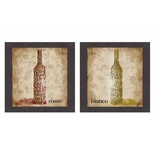 Type of Wine I & II' Framed Print