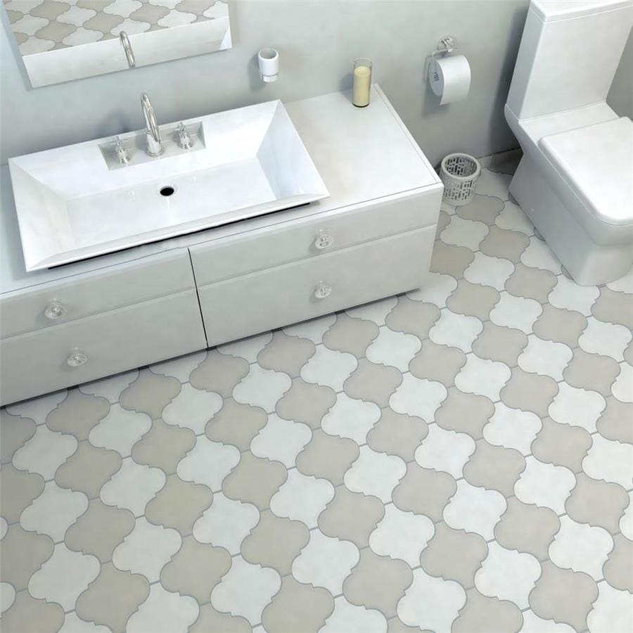 SomerTile 7x7-inch Morocco Provenzale White Porcelain Floor and Wall Tile  (7 tiles/7.7 sqft.)
