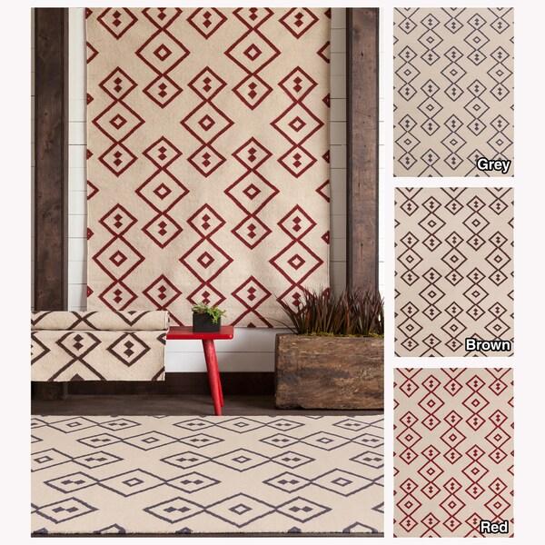 Artist's Loom Handmade Flatweave Contemporary Reversible Rug (5' x 7') - 5' x 7'