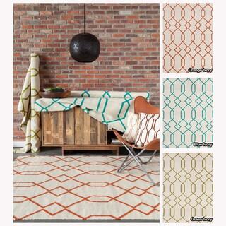 Artist's Loom Handmade Flatweave Contemporary Reversible Wool Rug (3'x5')