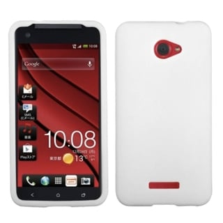 INSTEN Solid White Skin Phone Case Cover for HTC Droid DNA