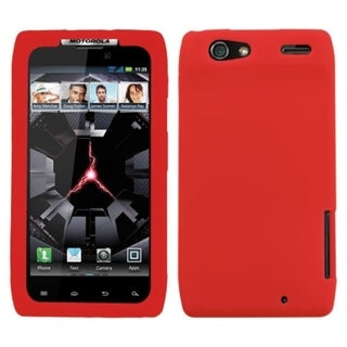 INSTEN Solid Red Skin Phone Case Cover for Motorola XT912 Droid Razr