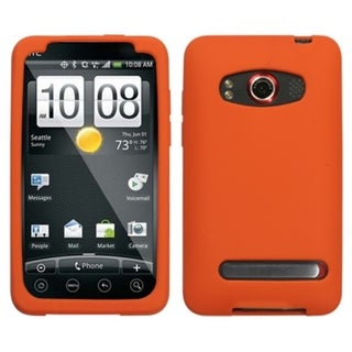 INSTEN Solid Orange Skin Phone Case Cover for HTC EVO 4G