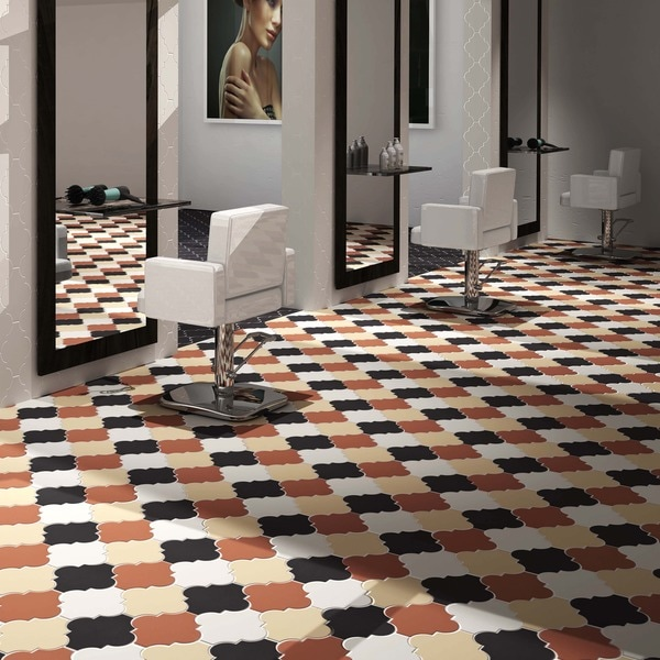 Somertile 8x8 inch morocco provenzale cotto porcelain for 16 inch floor tile