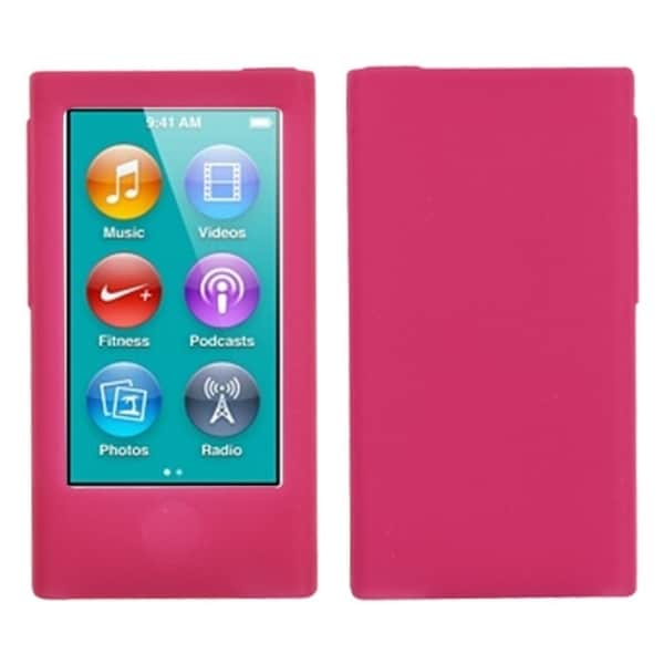 INSTEN Solid Hot Pink Skin iPod Case Cover for Apple iPod Nano