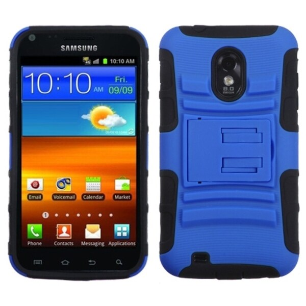 INSTEN Blue/ Black Armor Stand Phone Case Cover for Samsung D710 Epic 4G Touch
