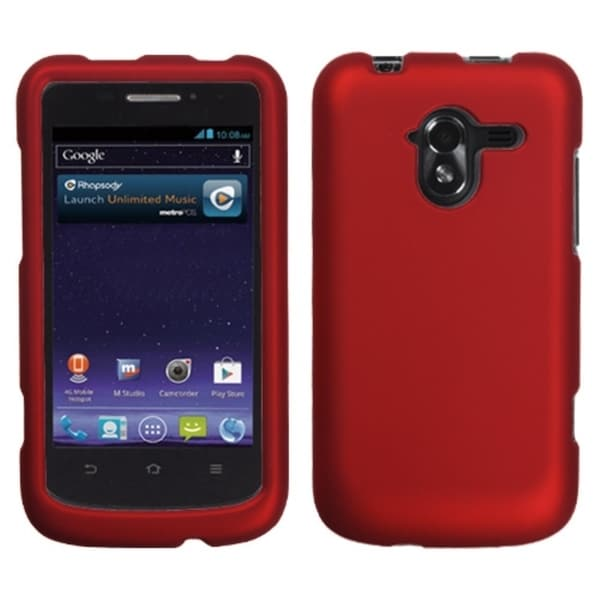 INSTEN Titanium Solid Red Protector Phone Case Cover ForZTE: N9120 Avid 4G