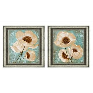 Vivien Rhyan 'Afternoon Bloom I & II' Framed Print