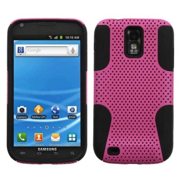 INSTEN Hot Pink/ Black Astronoot Phone Case Cover for Samsung T989 Galaxy S Ii