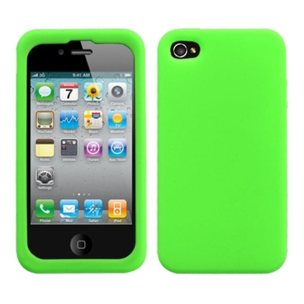INSTEN Solid Electric Green Skin Phone Case Cover for Apple iPhone 4S/ 4