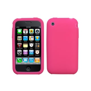 INSTEN Solid Hot Pink Skin Phone Case Cover for Apple® iPhone 3GS/ 3G