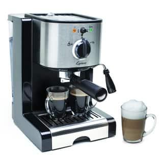 Capresso EC100 Stainless Steel Pump Espresso and Cappuccino Machine (Refurbished)|https://ak1.ostkcdn.com/images/products/8032714/8032714/Capresso-EC100-Stainless-Steel-Pump-Espresso-and-Cappuccino-Machine-Refurbished-P15393182.jpg?impolicy=medium