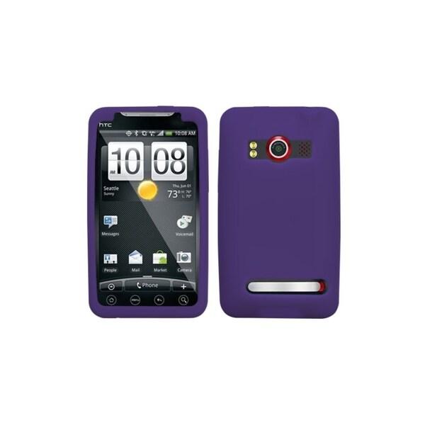 INSTEN Solid Dark Purple Skin Phone Case Cover for HTC EVO 4G