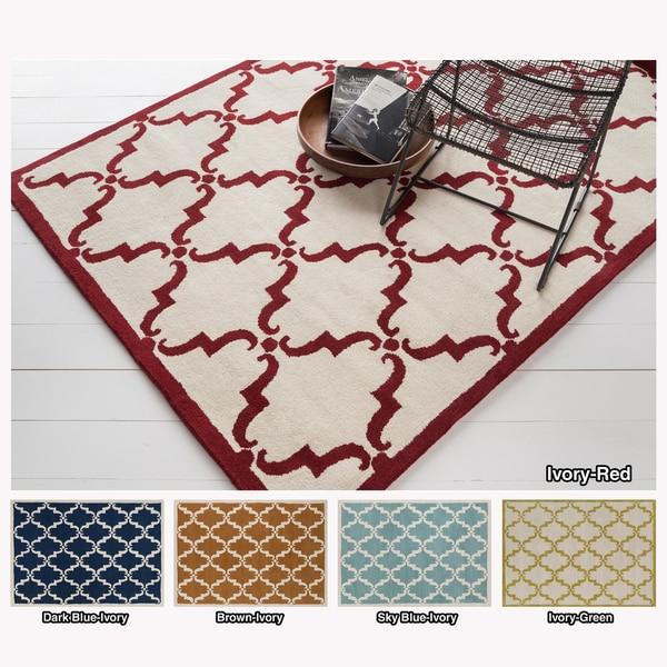 Artist's Loom Hand-tufted Moroccan Geometric Wool Rug (7'x10') - 7' x 10'