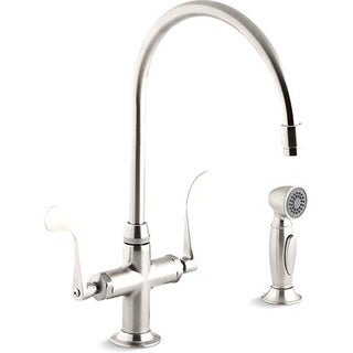Essex Kitchen Sink Faucet with Wristblade Handles and Sidespray