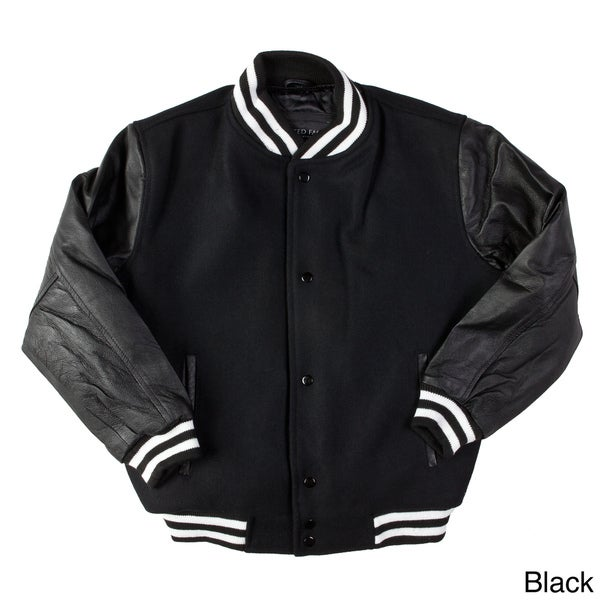 United Face Children's Wool and Leather Baseball Jacket