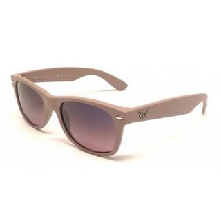 Ray Ban RB2132 Beige Polarized Wayfarer Sunglasses