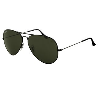 8cf50f1db Shop Ray-Ban RB3026 Aviator Classic Sunglasses Black  Green Classic 62mm -  Free Shipping Today - Overstock - 8032902