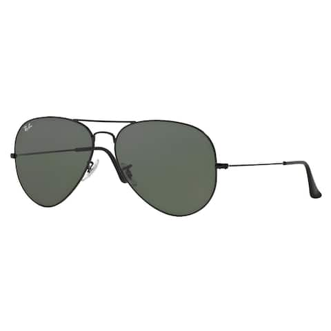 4dcbba8b14c1d Ray-Ban RB3026 Aviator Classic Sunglasses Black  Green Classic 62mm