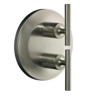 Purist Stacked Vibrant Brushed Nickel Valve Trim