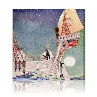 Oliver Gal 'Magical Boat' Canvas Art