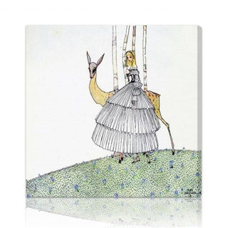 Oliver Gal 'The Princess and the Fawn' Canvas Art
