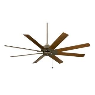 shop fanimation levon 63 inch brushed nickel ceiling fan free rh overstock com 60 outdoor ceiling fans with lights 60 inch outdoor ceiling fan with light