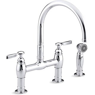 Parq Deck-Mount Kitchen Faucets with Spray