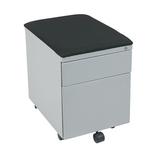 Office Star KISS Stations Mobile File with Padded Seat