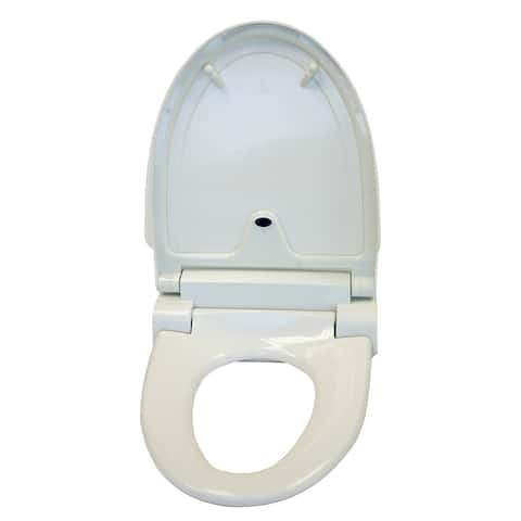 iTouchless Touch-free Sensor Controlled Automatic Round Off-white Toilet Seat